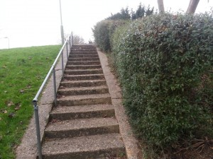 Steps from Camelot Close today
